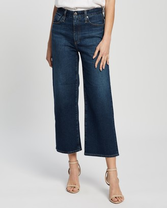 AG Jeans Etta Ultra High-Rise Wide Crop Jeans