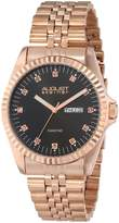 August Steiner Men's AS8047RG Diamond Stainless Steel Bracelet Watch