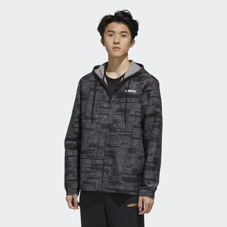 adidas Essentials Allover Print Windbreaker