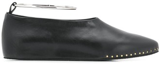 Jil Sander Studded Ballerina Shoes