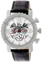 Reign Alpin Collection Men's Automatic Leather and Stainless Steel Watch