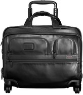 Tumi Alpha 2 Deluxe 4-Wheel Leather Brief with Laptop Case