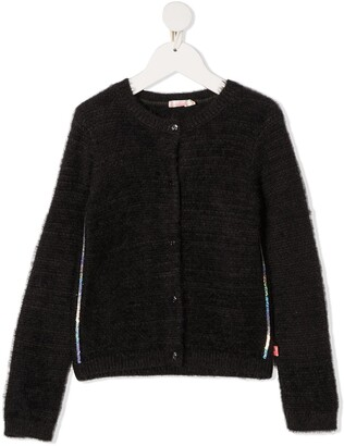 Billieblush Sequin-Embellished Knitted Cardigan