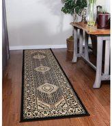 Linon Persian Treasures Mahi Tabriz Black Oriental Polypropylene Runner Rug (2'3-inch x 10')