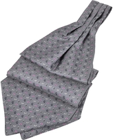 Forzieri Micro Paisley Print Silk Ascot