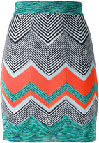 Missoni zigzag knit skirt
