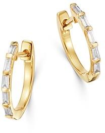 Bloomingdale's Diamond Baguette Huggie Hoop Earrings in 14K Yellow Gold - 100% Exclusive
