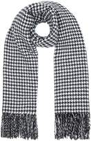 Yumi Dogtooth and Stripe Scarf