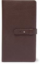 Brunello Cucinelli Full-grain Leather Travel Wallet - Dark brown