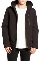 Black Rivet Men's Quilt Lined Hooded Parka
