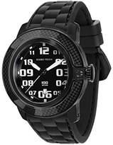 Glam Rock Men's GR33004 SoBe Black Dial Black Silicon Watch