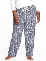 Old Navy Printed Plus-Size Poplin Sleep Pants