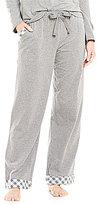 Sleep Sense Flannel-Trimmed Jersey Knit Sleep Pants
