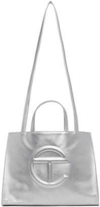 Telfar Silver Medium Shopping Tote