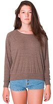 American Apparel Women's Tri-Blend Rib Light Weight Raglan Pullover