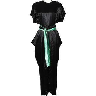 N. Non Signé / Unsigned Non Signe / Unsigned \N Black Silk Dresses