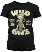 Betty Boop T Shirt MC Club new Official Womens Skinny Fit