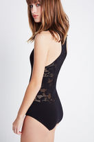 BCBGeneration Lace Seamless Bodysuit - Black