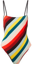 Solid and Striped The Chelsea Striped Swimsuit - Red