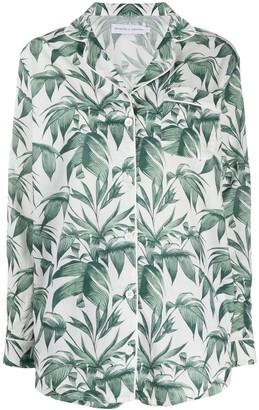 Desmond & Dempsey Byron leaf print pyjama set