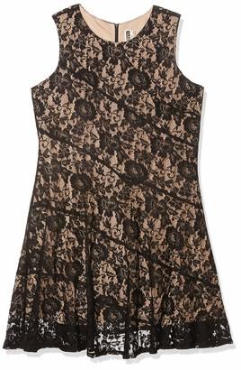 Julian Taylor Women's Plus Size Sleeveless All Over Lace Dress