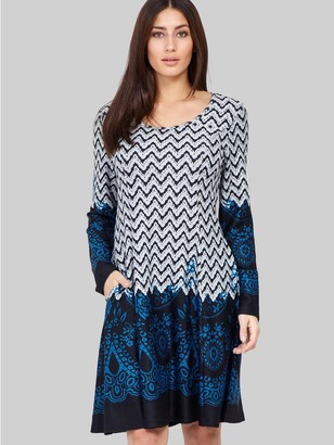 M&Co Izabel border print knitted dress