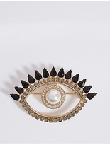 M&S Collection Eye Brooch