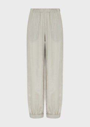 Emporio Armani Wet-Look Twill Trousers