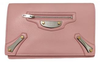 Balenciaga Classic Metalic Pink Leather Clutch bags