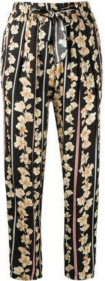 Forte Forte Floral-Print Straight Trousers