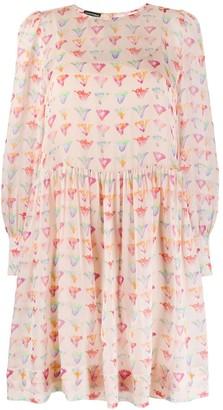 Emporio Armani Watercolour Floral Dress