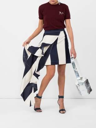 Calvin Klein asymmetric blocked stripe skirt