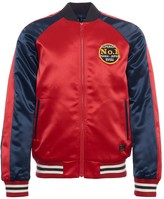 Evisu Padded Souvenir Jacket With Seagull Embroidery