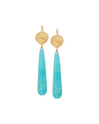 Jamie Wolf 18k Amazonite Shell Earrings