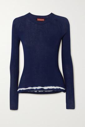 Altuzarra Kazuko Ribbed Tie-dyed Pima Cotton-jersey Sweater - Navy