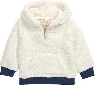 Tucker + Tate Teddy Quarter Zip Fleece Hoodie