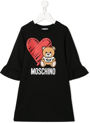 MOSCHINO BAMBINO Logo Print Dress