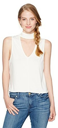 LIRA Women's Nika Cut Out V-Neck Top