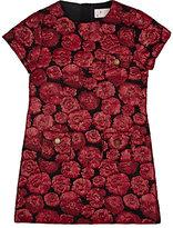 Lanvin ROSE-PATTERN JACQUARD DRESS-RED SIZE 6