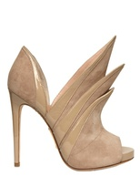 Alejandro Ingelmo 120mm Origami Suede & Patent Low Boots