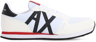 Armani Exchange Faux Suede & Mesh Running Sneakers
