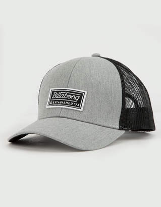 Billabong Walled Gray Mens Trucker Hat