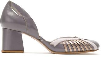 Sarah Chofakian Princess block heel pumps