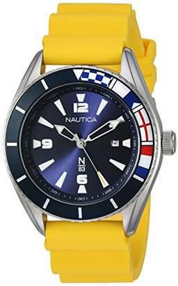 Nautica N83 Men's NAPUSS904 Urban Surf Silicone Strap Watch