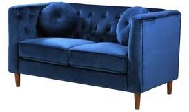 Mercer41 Tenafly Chesterfield Loveseat Upholstery Color: Blue