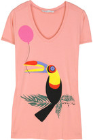 See by Chloe Printed cotton-jersey T-shirt