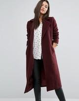 Missguided Longline Faux Wool Duster Coat
