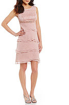 Jessica Howard Beaded Empire-Waist Tiered Dress