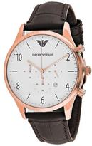 Giorgio Armani Classic Collection AR1916 Men's Leather Strap Watch with Chronograph