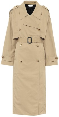 Co Cotton-blend twill trench coat